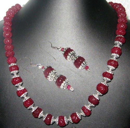Beautiful 1 Row of Ruby Melon Shape Gemstone Bead