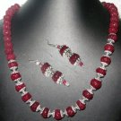 Beautiful 1 Row of Ruby Melon Shape Gemstone Bead