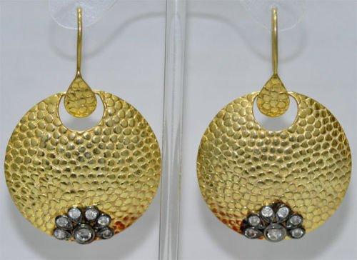 Beautiful Soild 92.5% Silver Round Chandelier Earrings