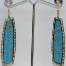 Turquoise Gemstone Studded Chandelier Earrings