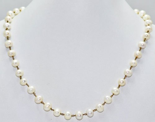 Chain of Natural Sea Water Pearl Beads, Jewellery