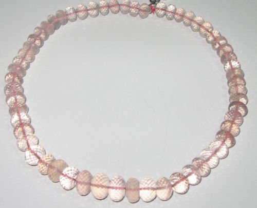 A Beautiful Necklace of Natural Rose Quartz Beads