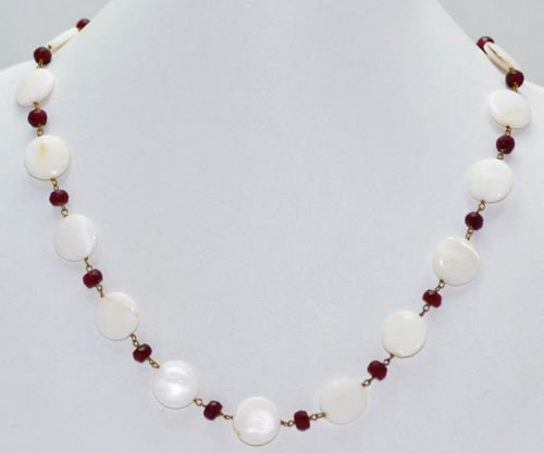 Ruby & Pearls Gemstone Fashion Jewellery Necklace