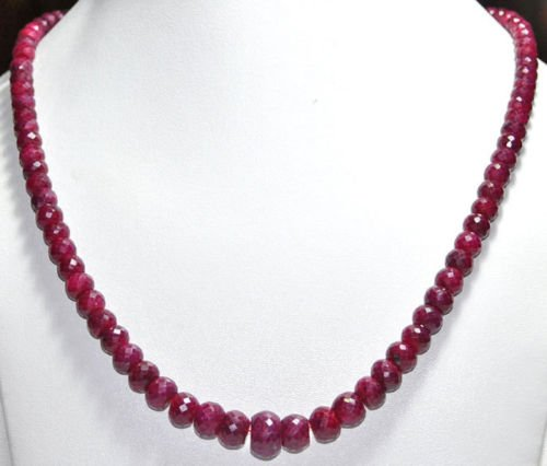 Ruby Far Size Faceted Natural Gemstone Beads Jewelry