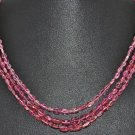 Beautiful Pink Tourmaline Bead Jewelry Necklace