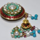 Beautiful Pearl & Turquoise Gemstone Studded Pendant