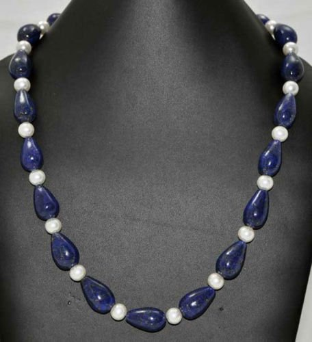 Beads Jewellery - Lapis Top Drilled Drops & Pearl