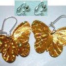 Golden sequin butterfly earring for girl