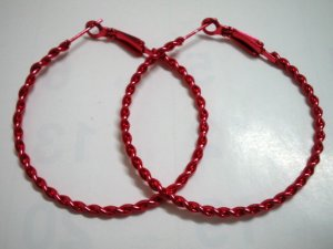 HOT SALE $1.5 Red twist huge huggie hoop earring 5cm 2""