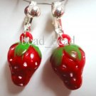 Birthday party return gift , Fruit  red strawberry kid girl clip on earring