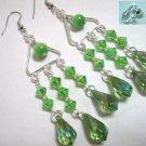 Holiday gift for woman Victoria chandelier cat eye bead chandelier dangle earring