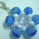 Flower dangle keychain purse charm