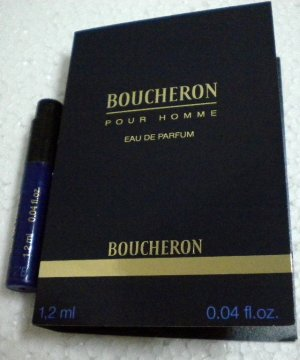 BOUCHERON Pour Homme edp for Man Sample Vial on Card 1.2ml 0.04 fl.oz.