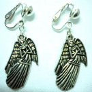Children Jewelry angel charm clip on earring