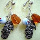 Girl jewelry angel charm dangle clip on earring