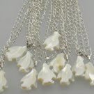 MOP Mother of pearl penguin pendant necklace party gift lot