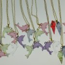 Girl's jewelry dolphin & shell pendant necklace birthday party lot