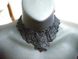 Handmade Lolita gothic victoria collar rose flower lace choker necklace