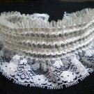 Wide stretch white lace choker necklace