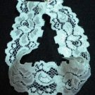Handmade Lolita white rose flower collar stretch lace choker necklace