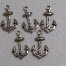 Anchor hook metal charm 5 pcs craft supply