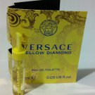 Versace Yellow Diamond for woman Eau De Toilette  0.05 fl oz 1.5ml sample vail on card