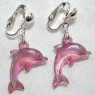 Bead dolphin charm dangle kid girl dangle earring