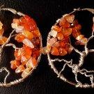 Handmade Amethyst Tree of life Earring