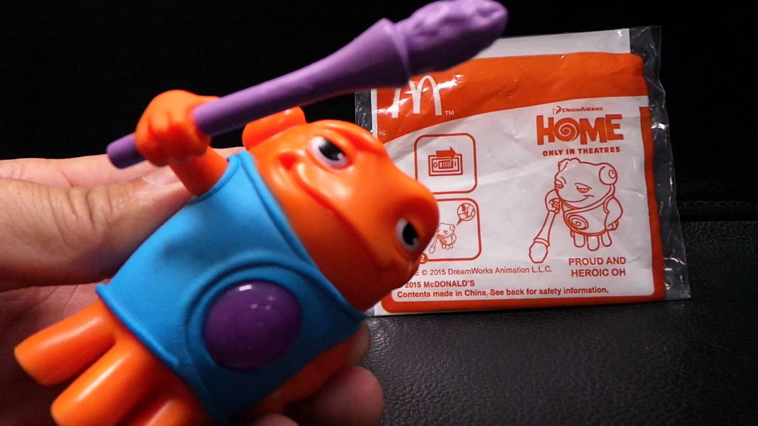 HK McDonald's Happy Meal Toy:2015 DREAMWORKS- HOME PROUD AND HEROIC OH
