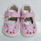 Infant shoe pink kitten pram shoe crib shoe size 12-18 months UK size 3