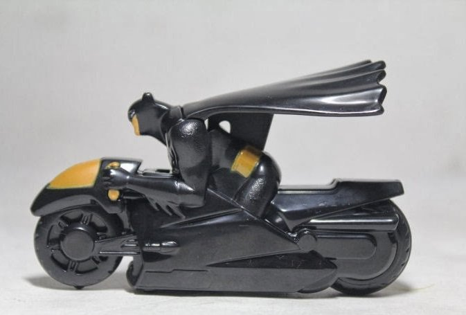 HK McDonald's Happy Meal Toy:2014 BATMAN CAPED CRUSADING BATCYCLE