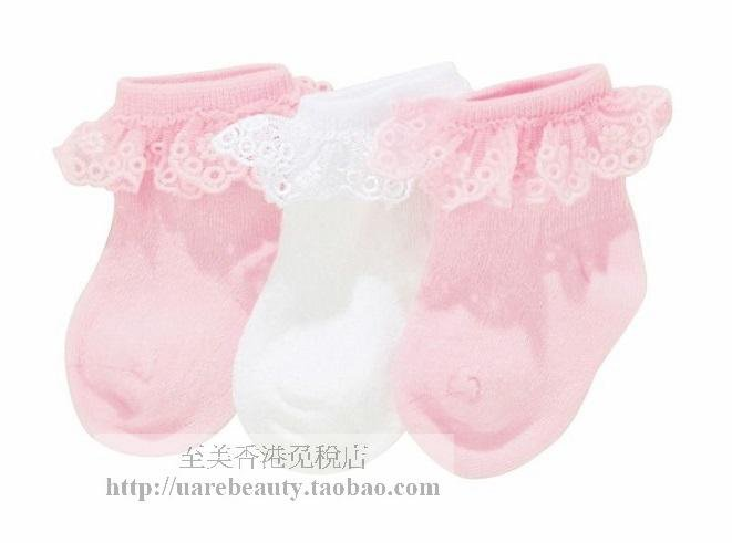 NEXT Baby girl infant pink & white socks size 0-3 months NEW 3 pairs set