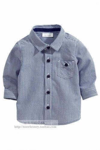 NEW NEXT Baby boy infant long sleeve button shirt 0-3 month