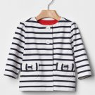 NEW GAP Baby girl infant stripe jacket 6-12 months size 70cm