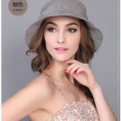 Brown Woman Summer Sun protection anti UV fishing fisherman hat