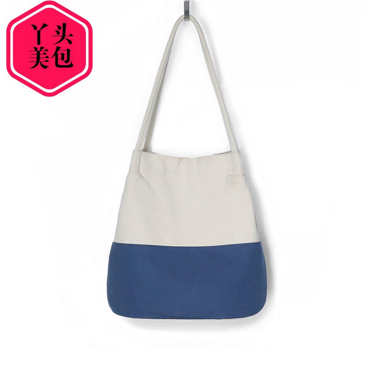 Women canvas bucket bag tote bag