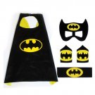 Superhero Batman Costume Cosplay Cape mask wrist belt set dress up for kids