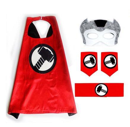 Japan Ultraman Costume Cosplay Cape mask wrist belt set dress up for kids