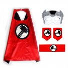 Japan Ultraman Costume Cosplay Cape mask wrist belt set dress up for kids