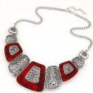 Fashion Charm Chunky Statement Bib Chain Metal Necklace Woman Jewelry