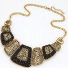 Fashion Charm Metal Statement Bib Chain Chunky Necklace Woman Jewelry