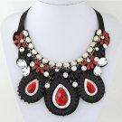 Charm Chunky Resin Statement Bib Bohemia Fashion Necklace Woman Jewelry