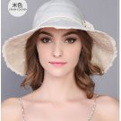 Fashion Woman Summer Sun protection anti UV wide brim fishing fisherman hat