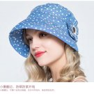 Woman Summer Sun protection anti UV floral Outdoor Sweet fishing fisherman hat