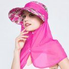 Woman Sunvisor Legionnaire Outdoor wide brim UV protection of ears & neck