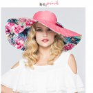 PINK Woman Double side Wide Brim anti UV Outdoor protective sun hat