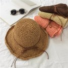 Handmade Woman Summer WIDE BRIM Sun protection fishing straw hat