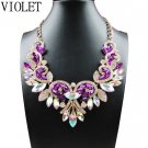 Fashion Chunky Crystal Statement Bib Bohemia Necklace Pendant