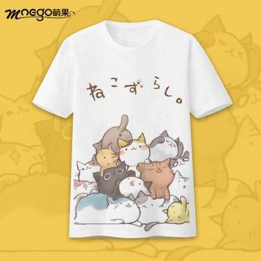 Children Japan anime Neko Atsume graphic T-Shirt
