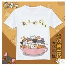 KIDS Japan cute cartoon Neko Atsume graphic T-Shirt